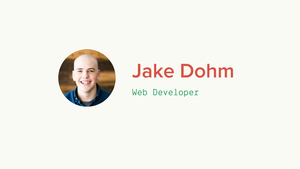 Jake Dohm Web Developer
