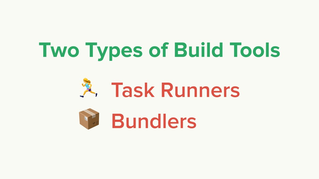 % Task Runners  Bundlers Two Types of Build Too...