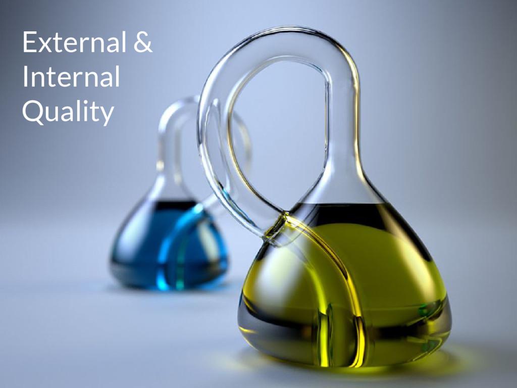 External & Internal Quality