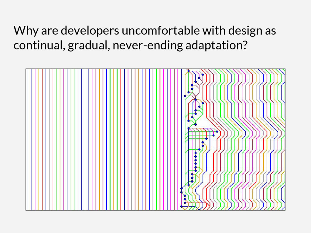 Why are developers uncomfortable with design as...