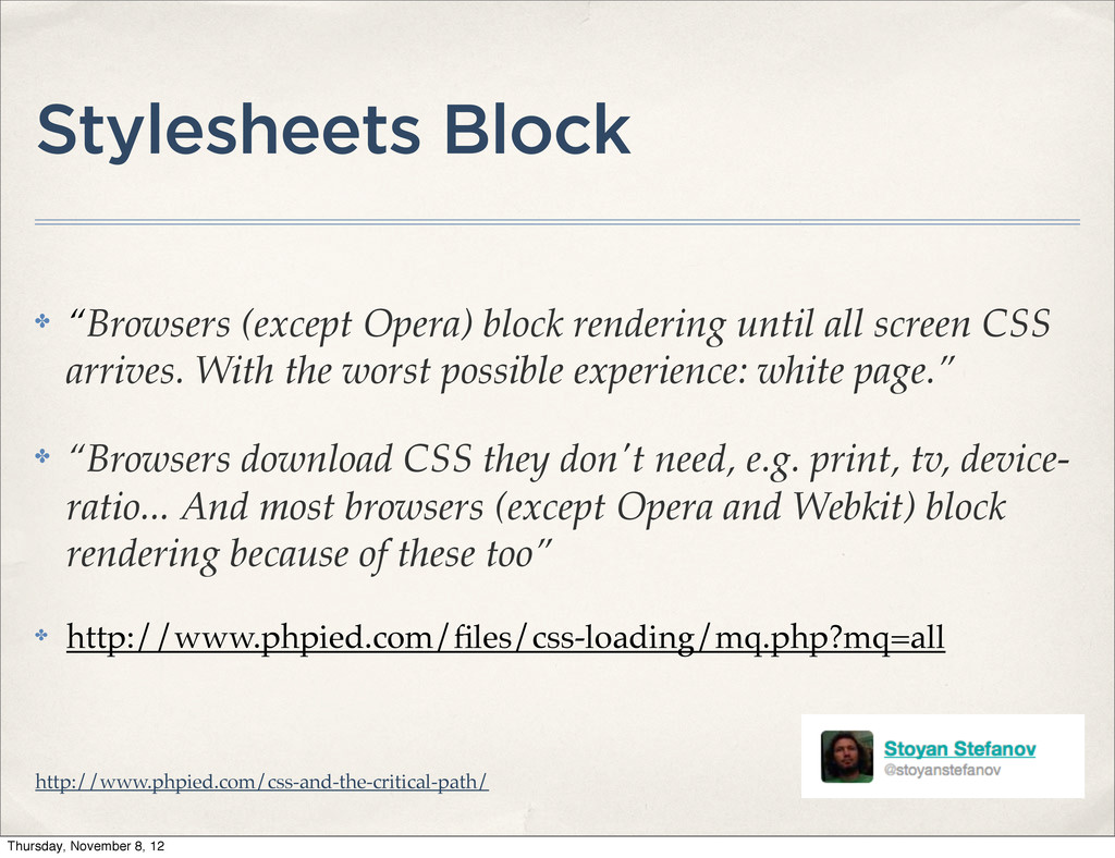 """Stylesheets Block ✤ """"Browsers (except Opera) bl..."""