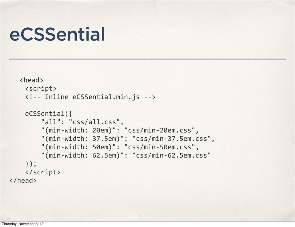 eCSSential <head>     <script>  ...