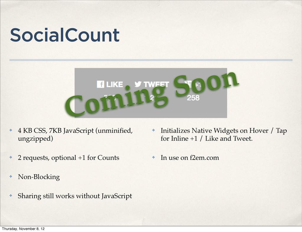 SocialCount ✤ 4 KB CSS, 7KB JavaScript (unminifi...