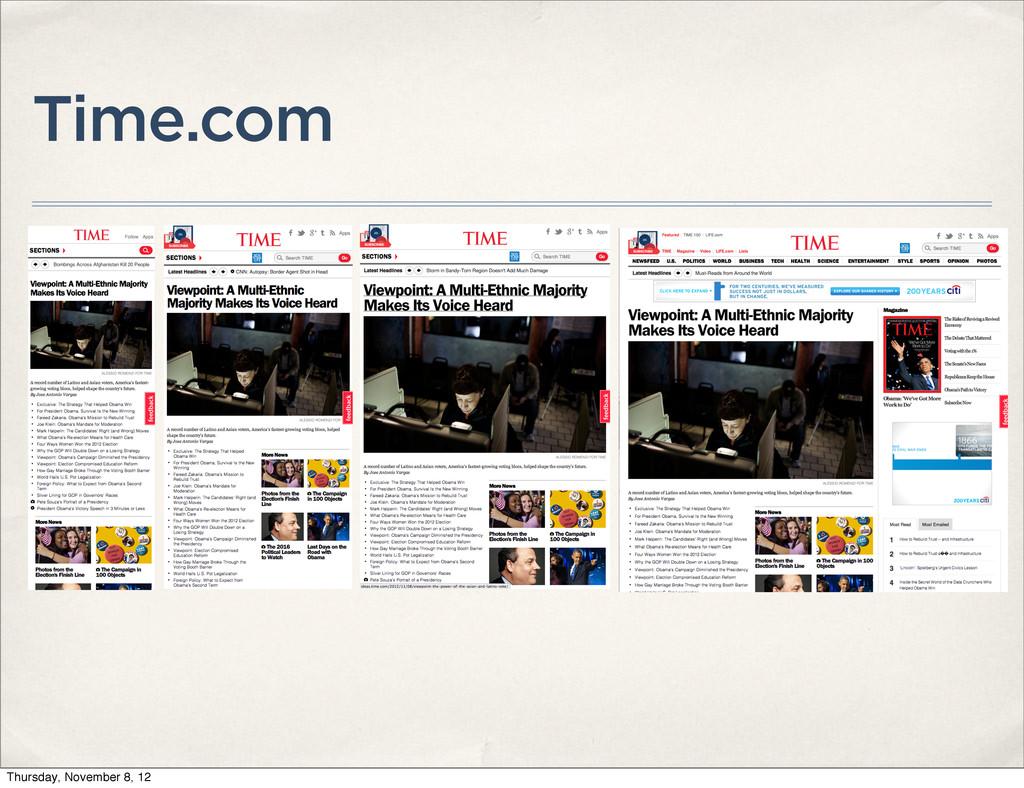 Time.com Thursday, November 8, 12