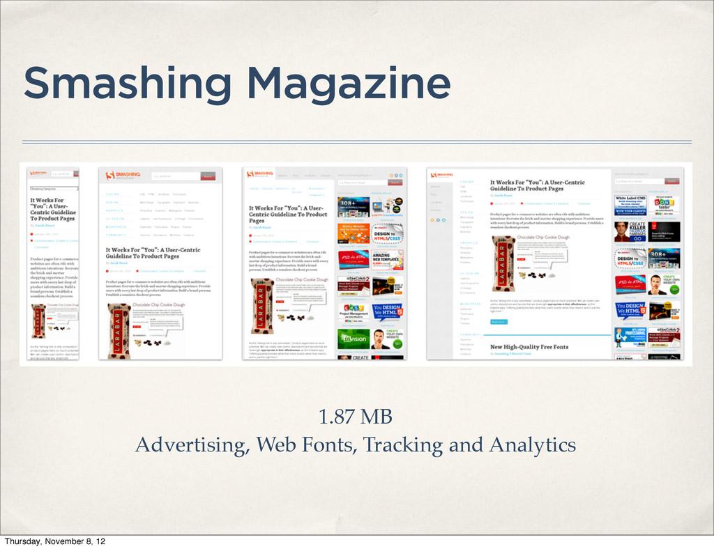 Smashing Magazine 1.87 MB Advertising, Web Font...