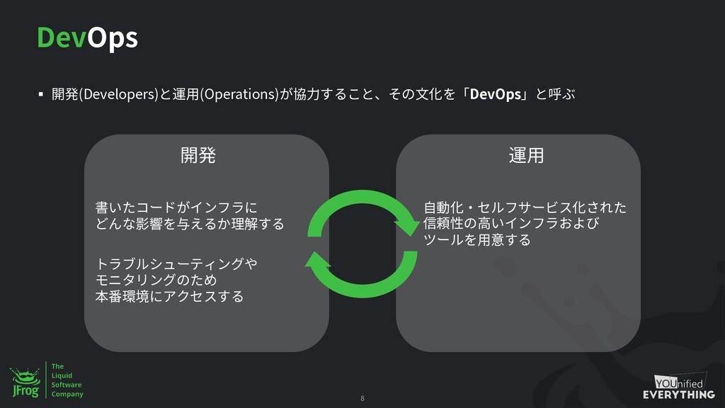 DevOps § 開発(Developers)と運用(Operations)が協力すること、そ...