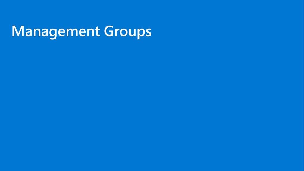 Management Groups