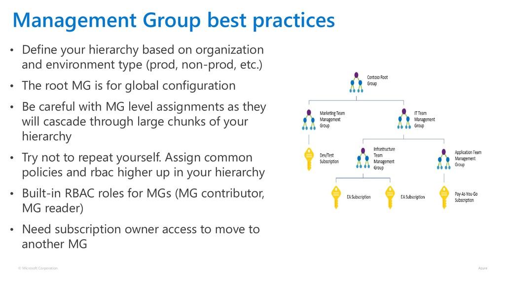 © Microsoft Corporation Management Group best p...