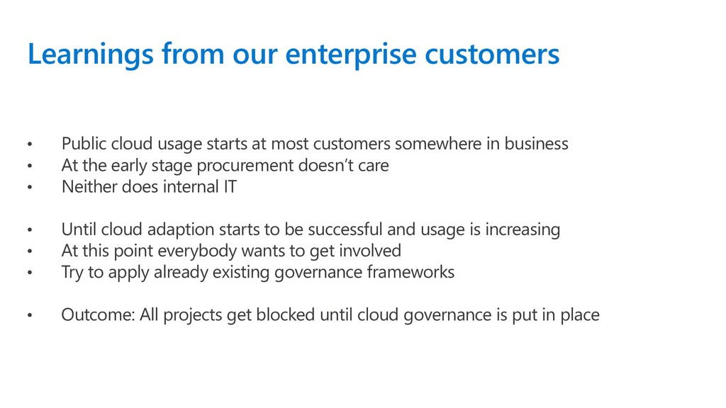 Learnings from our enterprise customers • Publi...