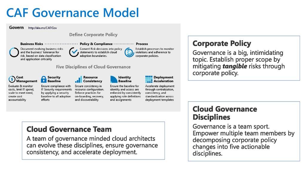 CAF Governance Model