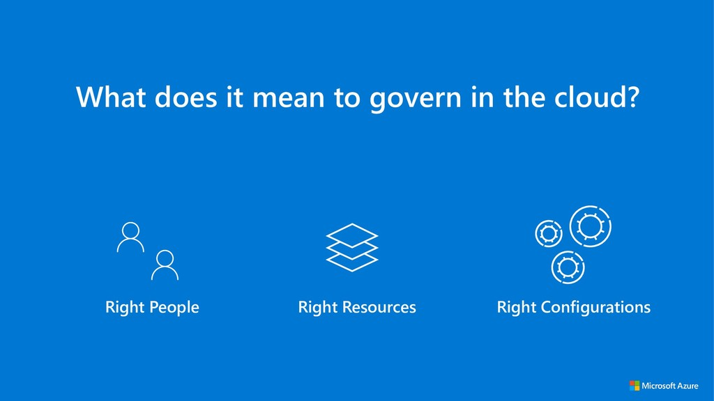 What does it mean to govern in the cloud? Right...