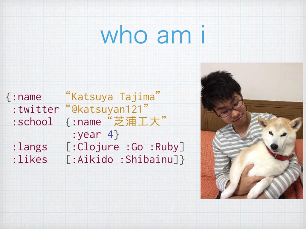 """{:name """"Katsuya Tajima"""" :twitter""""@katsuyan121"""" ..."""