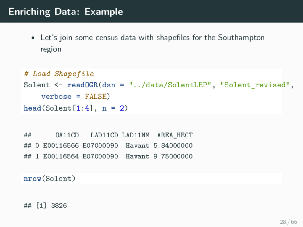 Enriching Data: Example • Let's join some censu...