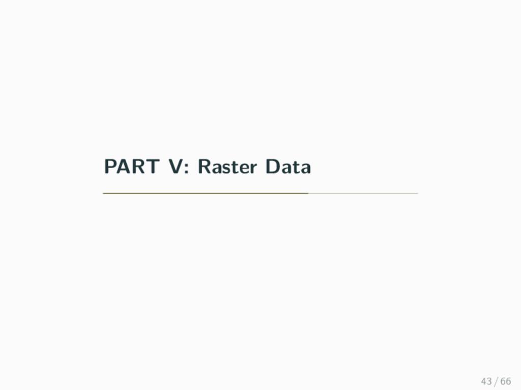 PART V: Raster Data 43 / 66