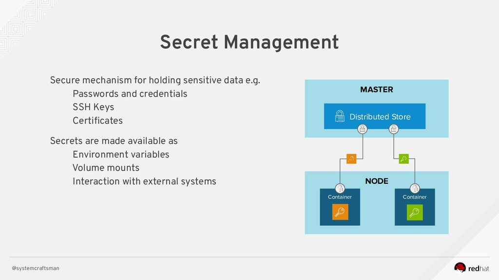 @systemcraftsman NODE MASTER Secret Management ...