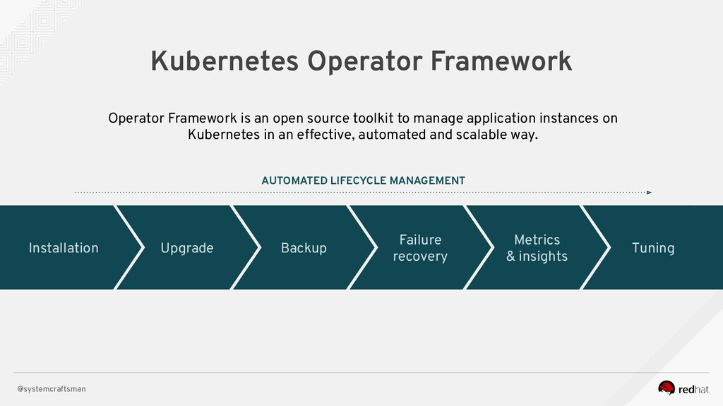 @systemcraftsman Kubernetes Operator Framework ...
