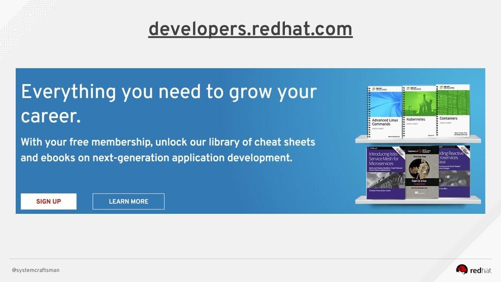 @systemcraftsman developers.redhat.com