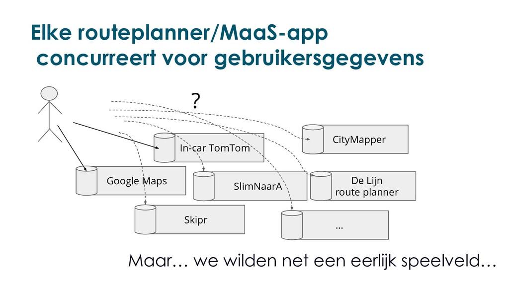 Elke routeplanner/MaaS-app concurreert voor geb...
