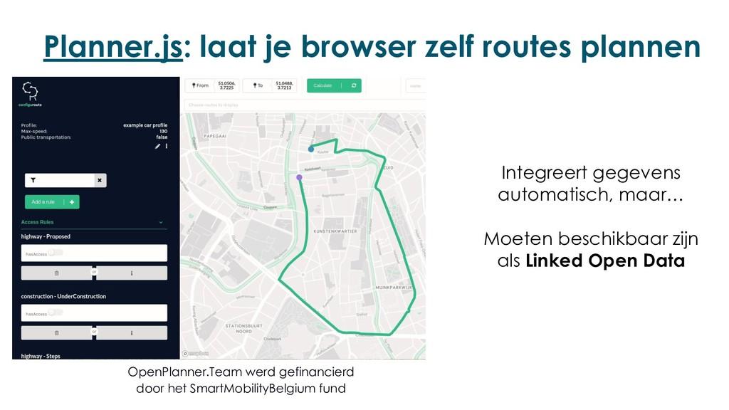 Planner.js: laat je browser zelf routes plannen...
