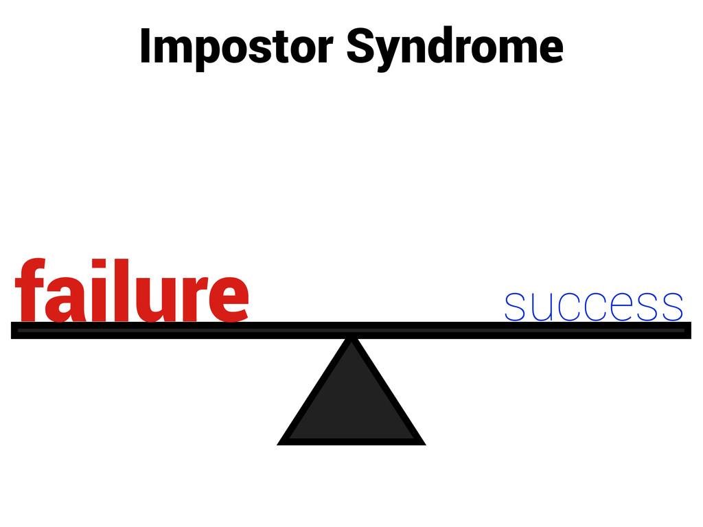 Impostor Syndrome success failure
