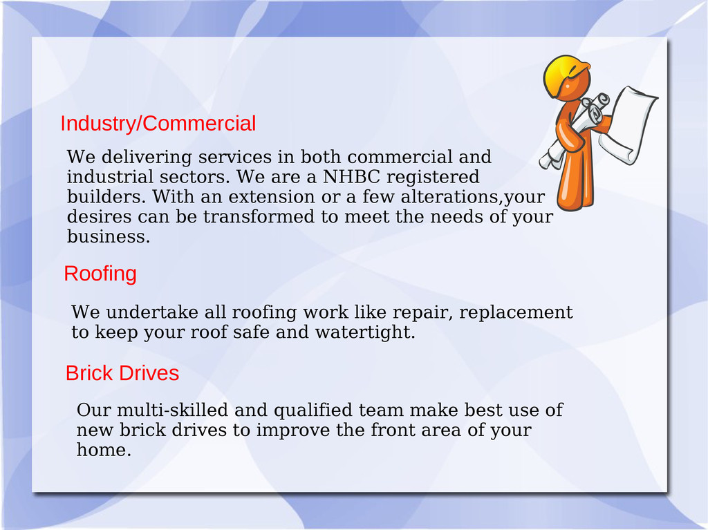 Roofing Industry/Commercial Brick Drives We del...
