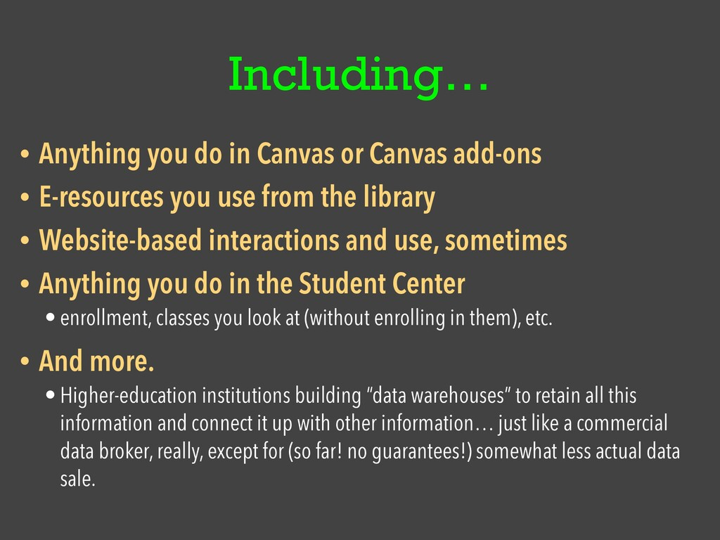 Including… • Anything you do in Canvas or Canva...
