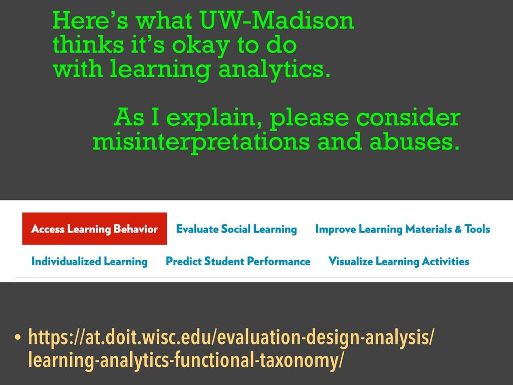 Here's what UW-Madison   thinks it's okay to do...