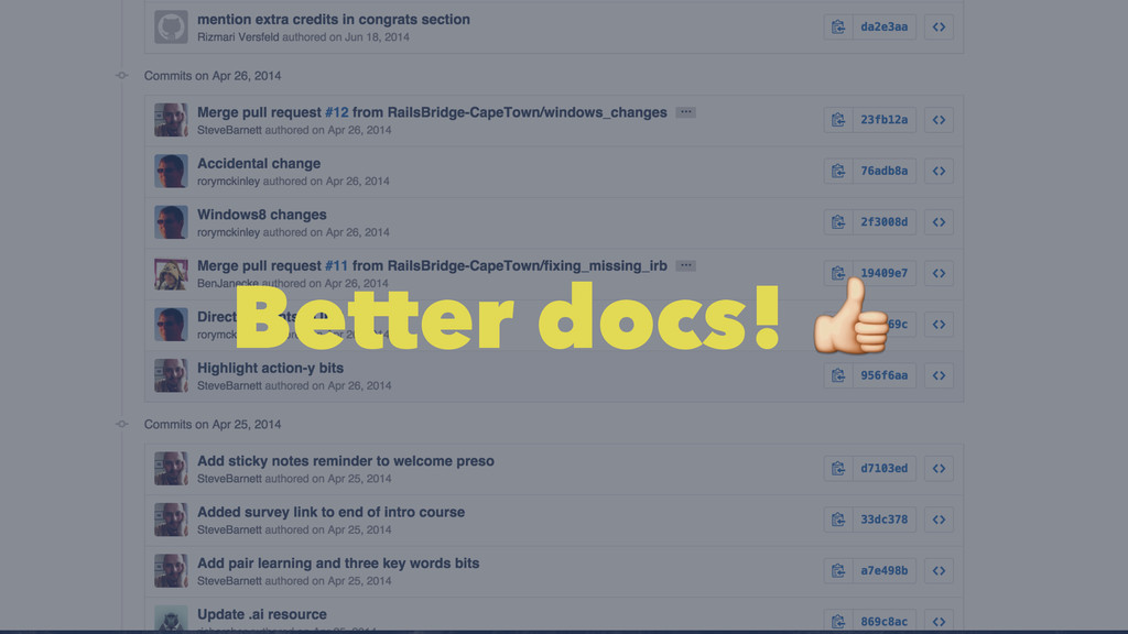 Better docs! !