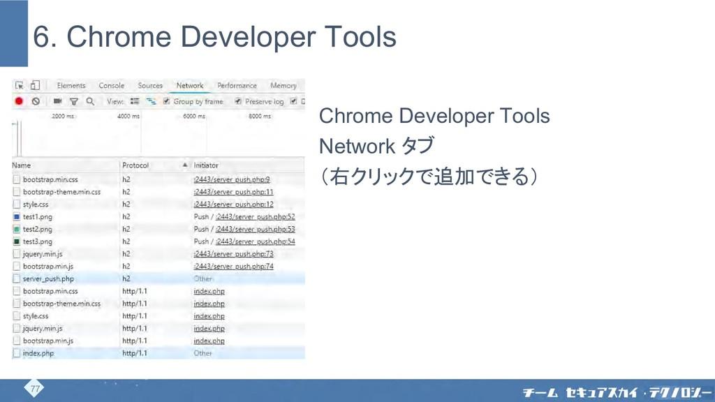 6. Chrome Developer Tools Chrome Developer Tool...