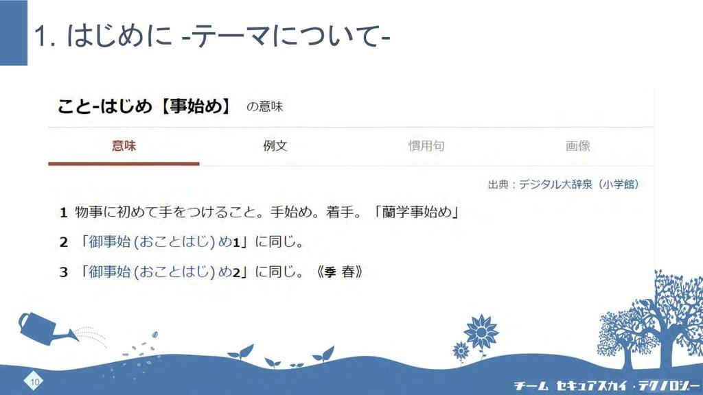 1. はじめに -テーマについて- https://dictionary.goo.ne.jp/...