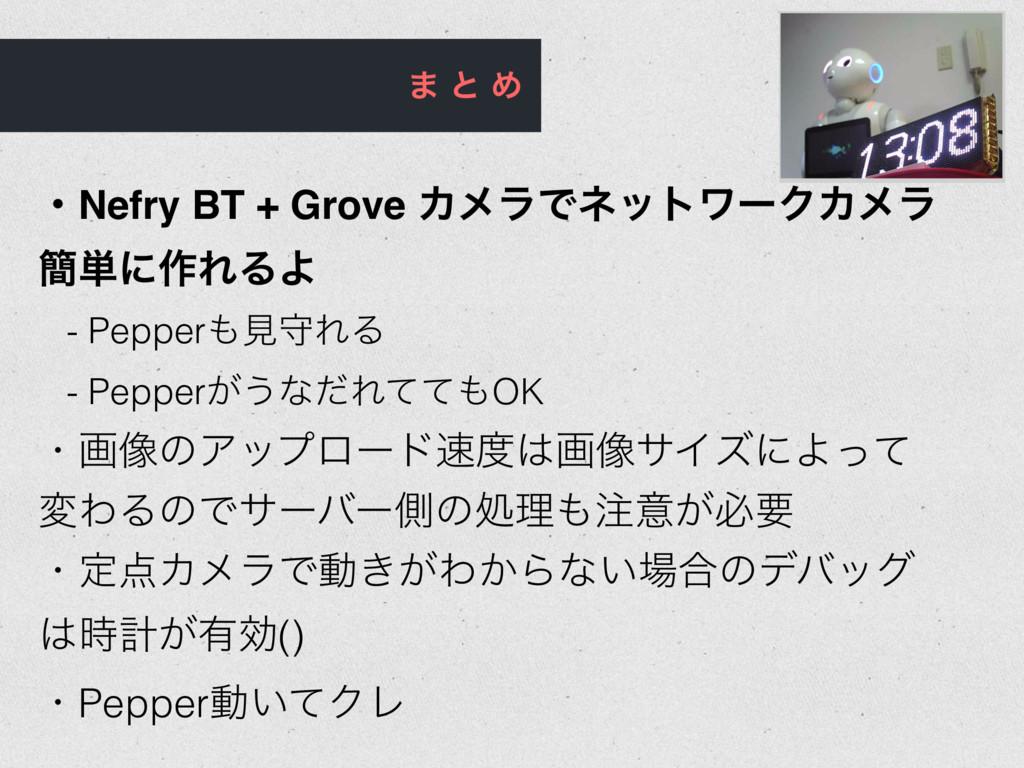 · ͱ Ί ɾNefry BT + Grove ΧϝϥͰωοτϫʔΫΧϝϥ ؆୯ʹ࡞ΕΔΑ -...