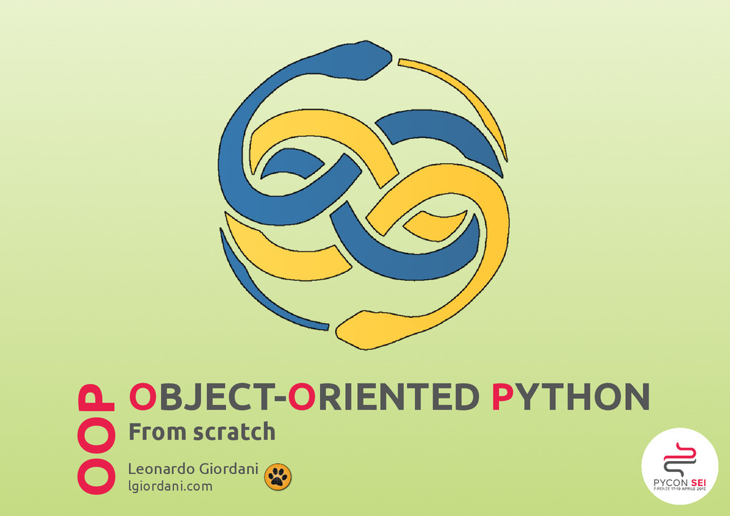 OBJECT-ORIENTED PYTHON From scratch Leonardo Gi...