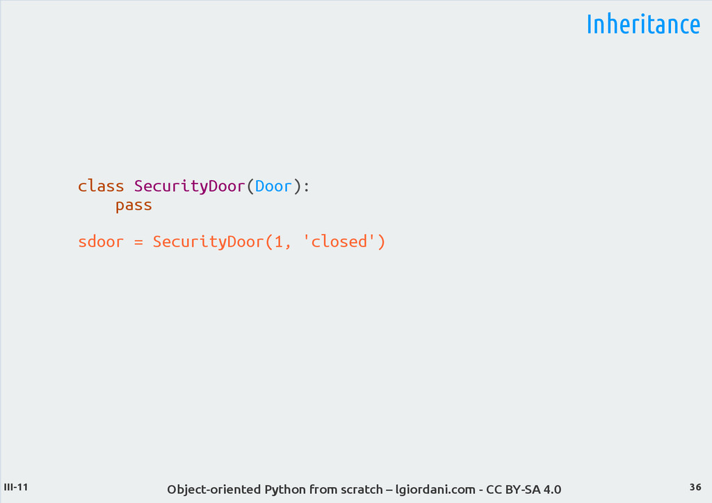 Object-oriented Python from scratch – lgiordani...