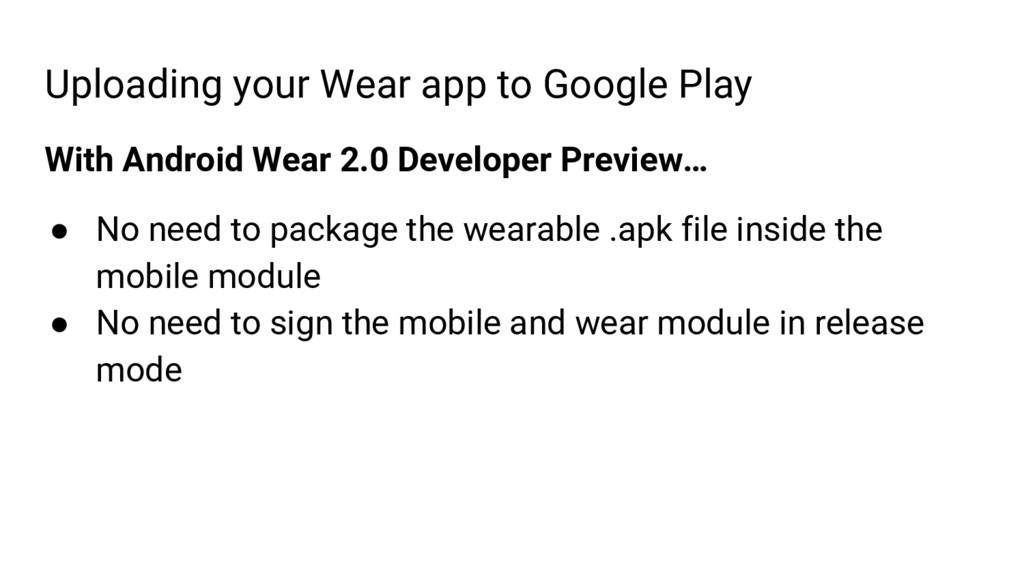 Uploading your Wear app to Google Play With And...