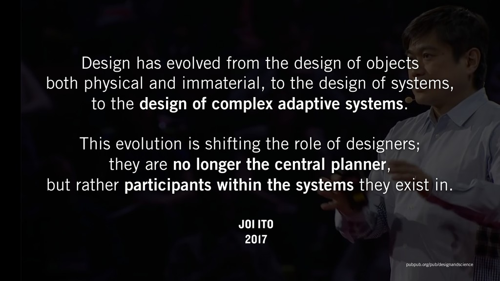 Design has evolved from the design of objects ...