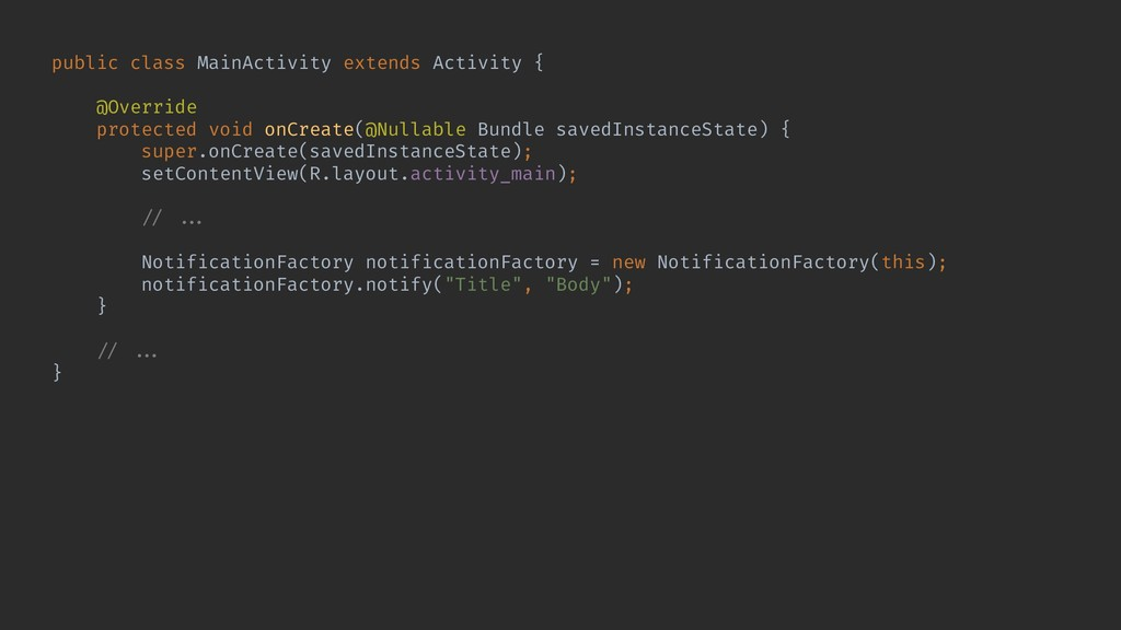 public class MainActivity extends Activity { @O...