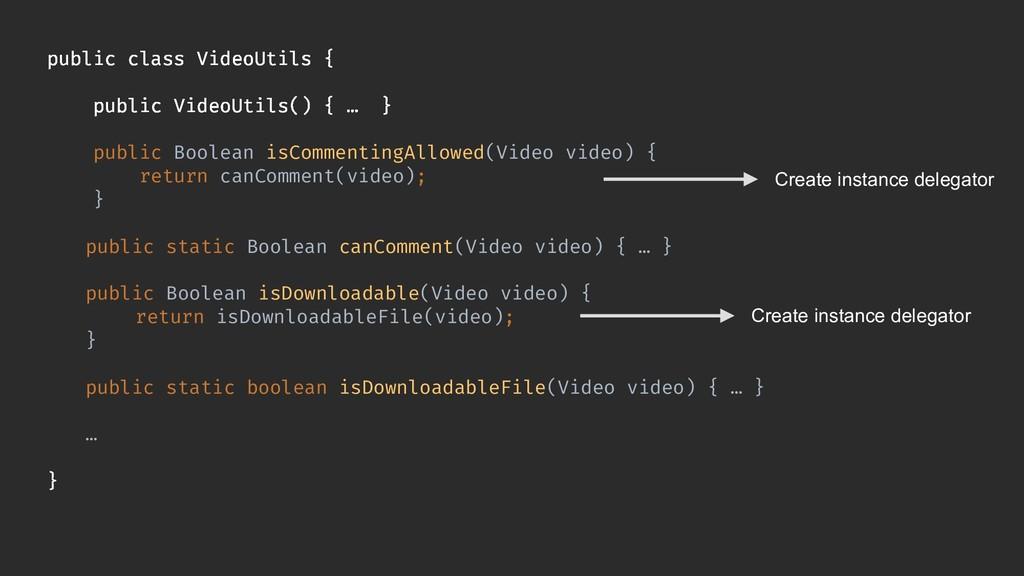 public class VideoUtils { public VideoUtils() {...