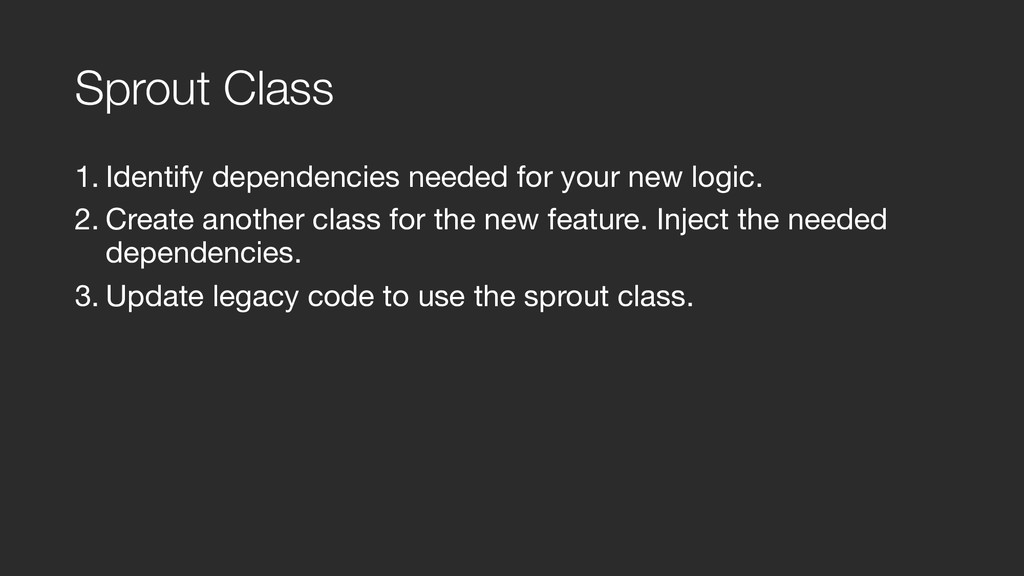 Sprout Class 1. Identify dependencies needed fo...