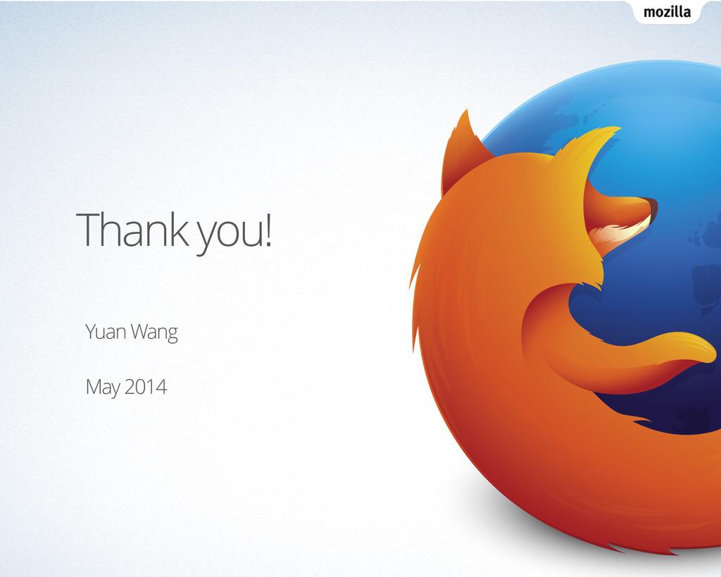 Thank you! Yuan Wang ! May 2014