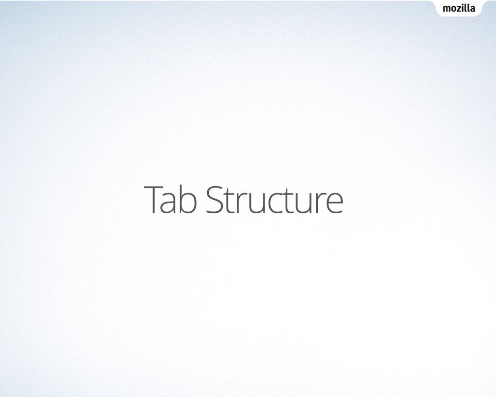 Tab Structure