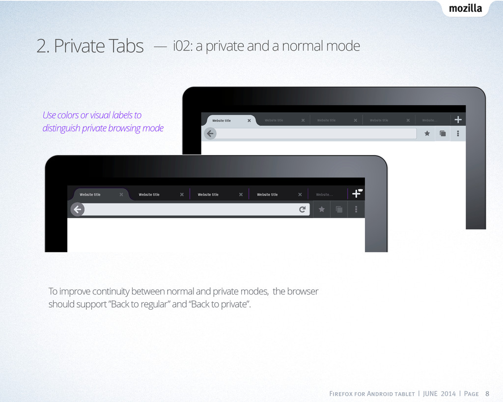 Firefox for Android tablet | JUNE 2014 | Page 8...