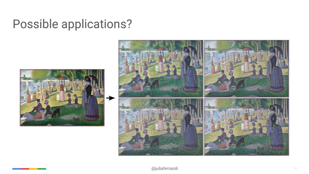 38 @juliaferraioli 38 Possible applications?