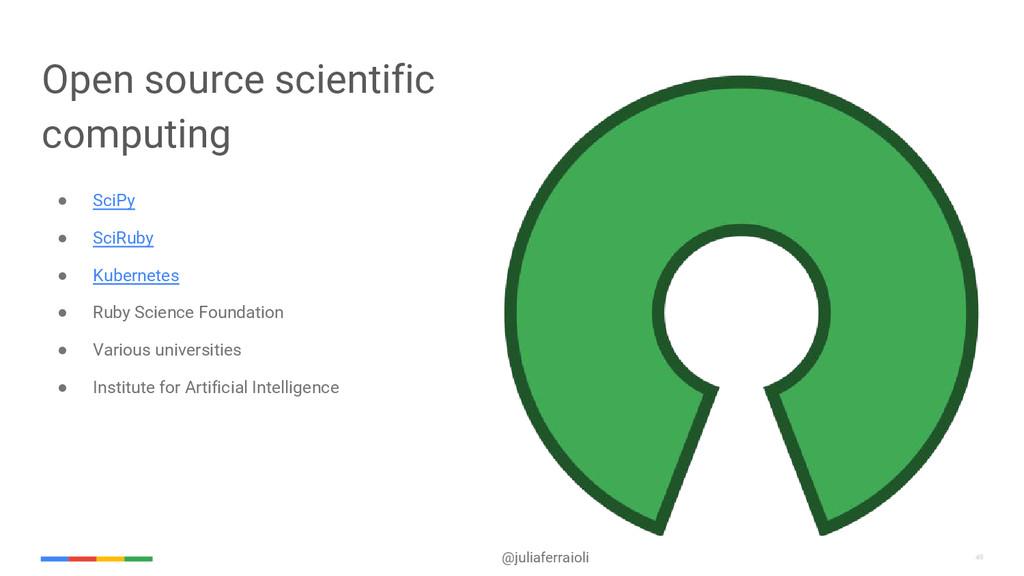 49 @juliaferraioli 49 Open source scientific co...