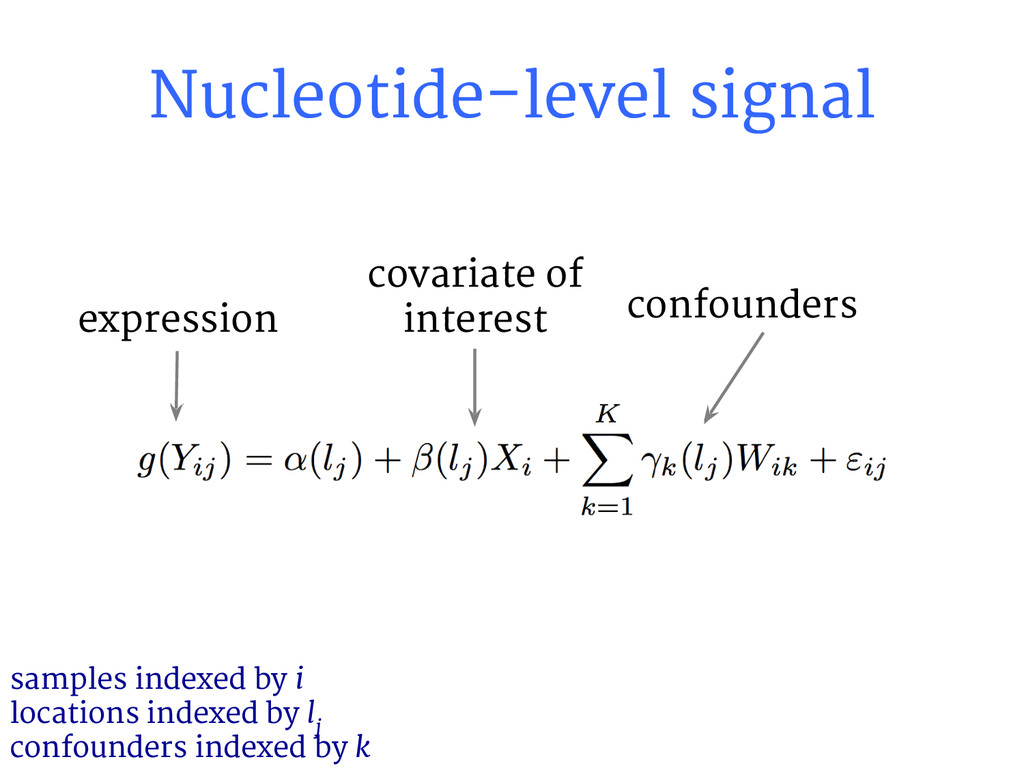 Nucleotide-level signal samples indexed by i lo...