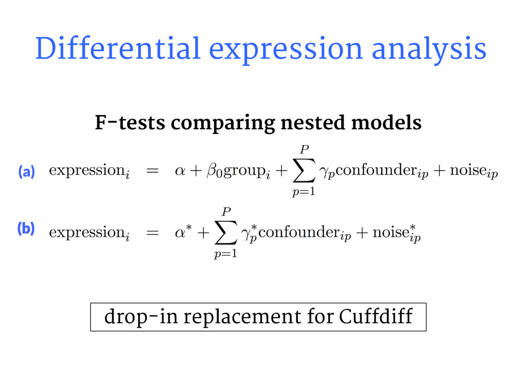 Differential expression analysis drop-in replac...