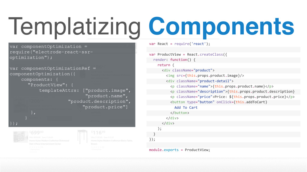 Templatizing Components var React = require('re...