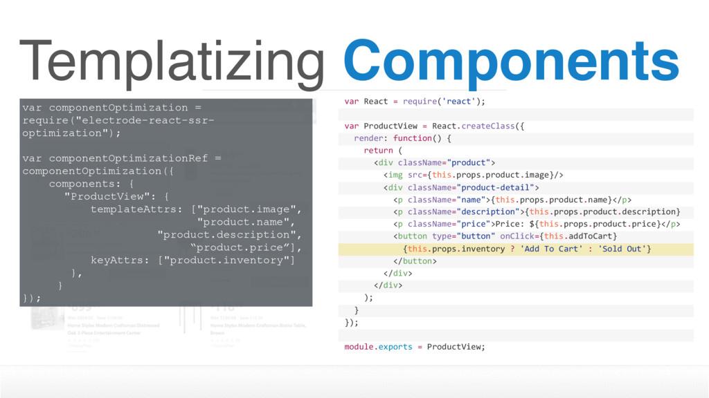 Templatizing Components var componentOptimizati...