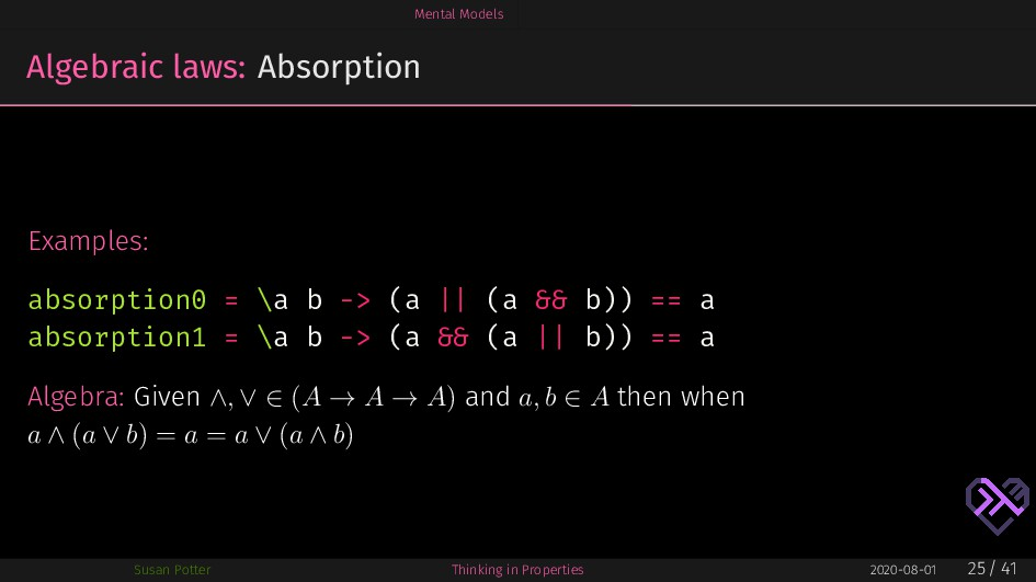 Mental Models Algebraic laws: Absorption Exampl...