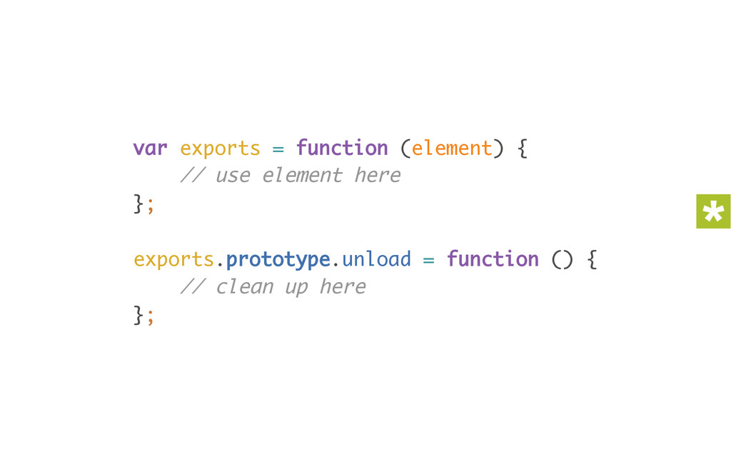 var exports = function (element) { // use elem...