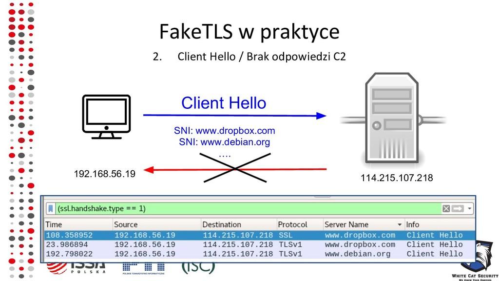 FakeTLS w praktyce 2. Client Hello / Brak odpow...